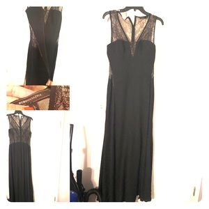 Beautiful BCBG Black/Sheer Gown